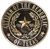 Citizen of the Republic of Texas memorial medallion